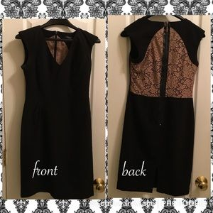 Theme dress adorable black and nude lace detail